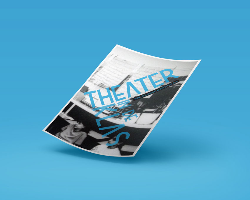 Flyer-theater-Presentation-blue